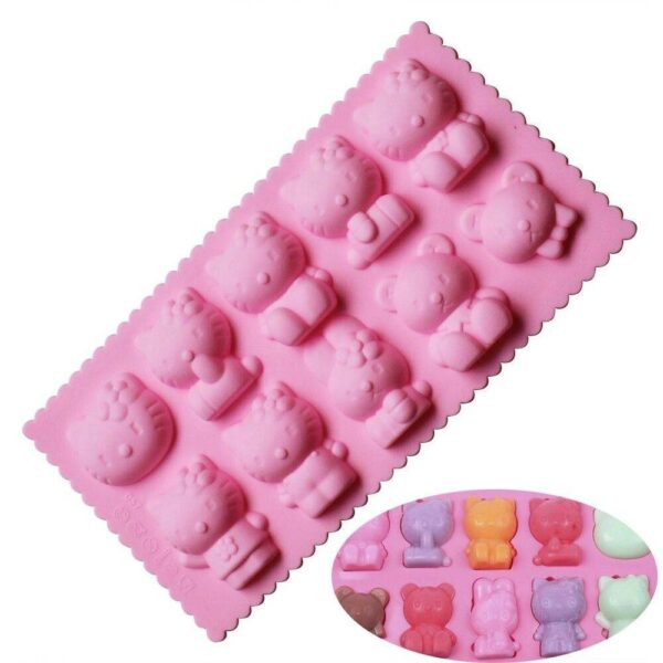 Molde Hello Kitty Mix 10 Cavidades