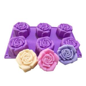 Diseño Molde Rosas 6 Cavidades