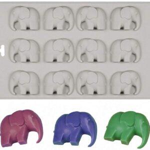 Molde Elefante 12 Cavidades