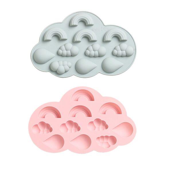 Molde de Arcoíris, Nubes y Gotas 11 Cavidades