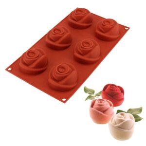 Molde de Rosa Delicada 6 cavidades
