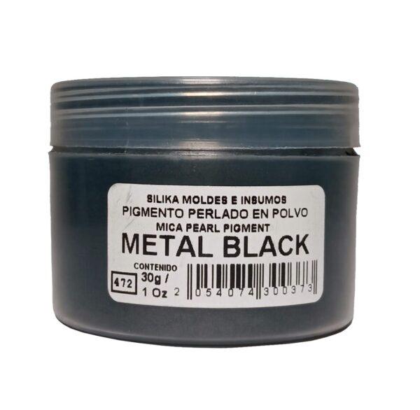 Pigmento Perlado en Polvo 30 gr Metal Black