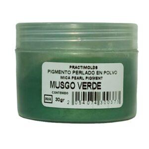 Pigmento Perlado en Polvo 30 gr Musgo Verde