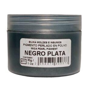 Pigmento Perlado en Polvo 30 gr Negro Plata