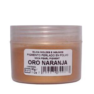 Pigmento Perlado en Polvo 30 gr Oro Naranja