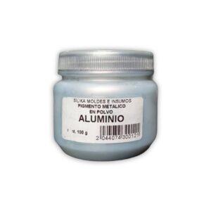 Pigmento Perlado en Polvo Aluminio 100Gr-practimolds