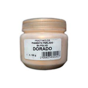 Pigmento Perlado en Polvo Dorado 100Gr-practimolds