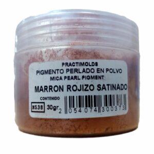 Pigmento Perlado en Polvo Marrón Rojizo Satinado 30Gr-practimolds