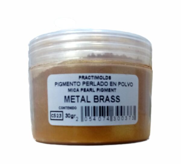 Pigmento Perlado en Polvo Metal Brass 30Gr-practimolds