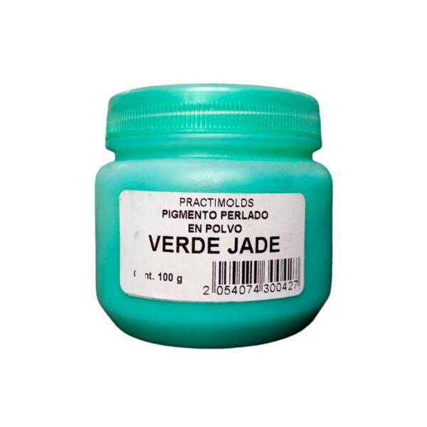 Pigmento Perlado en Polvo Verde Jade 100Gr-practimolds